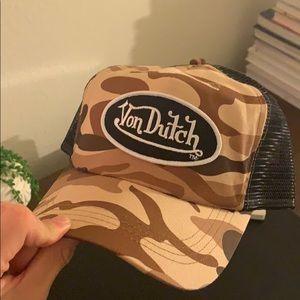 Camo Von Dutch Trucker Hat